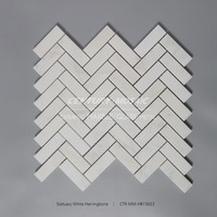 herringbone white new arrived mosaic mural mural with good quality