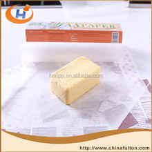 china paper suppliers grease proof wax paper roll for cheese butter and oily food wrapping paper products