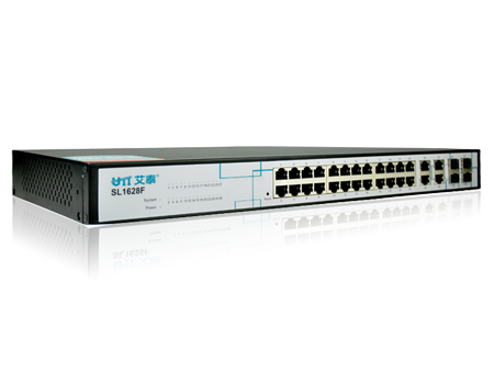 UTT SL1628F-I 24 port Layer 2 <strong>L2</strong> managed Rack Mount Ethernet Network Switch for Office, SOHO, SMB