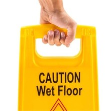 Commercial Caution Safety Sign Plastic Yellow Warning Board