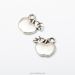 wholesale apple shape alloy pendanet charm jewelry ,fruit charm