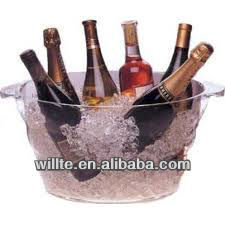 Good quality and simple acrylic beer/wine tub display for party
