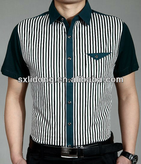 2013 latest design trendy mens striped nano dress shirt