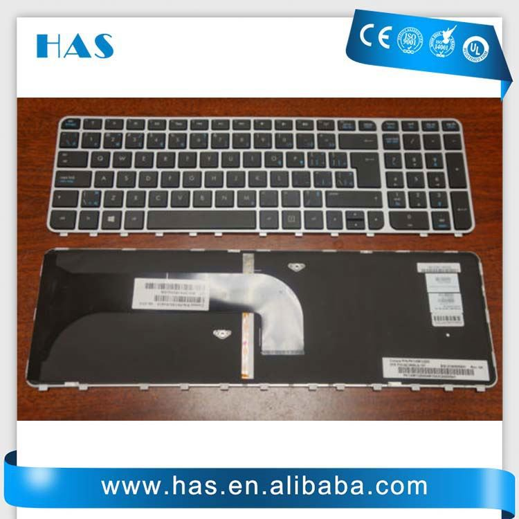 Brand new Laptop keyboard for HP Envy M6 M6-1000 US-Int. Black backlit silver frame
