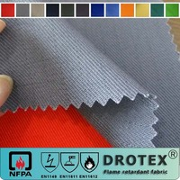 EN11611 100% Cotton Fade Resistance Safety Fire Resistant Fabric