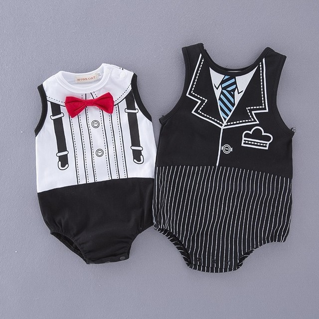 Wholesale Indonesia Baby Clothes Newborn Cotton Fashion Summer Jumpsuits Romper Baby Boy Clothed 12100