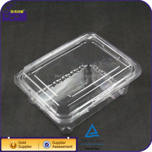 Food grade plastic PET clamshell packaging fruit box container with lids