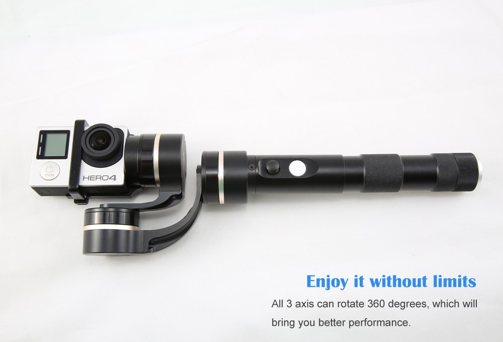 Feiyu Tech Latest Item FY-G4S 3 axis Handheld Gimbal 360 degree For Gopro 3 3+ 4 Sport Camera