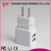 Wholesale Customized New Design EU US KR Plug 5V 2A Universal Micro Dual USB Wall Charger