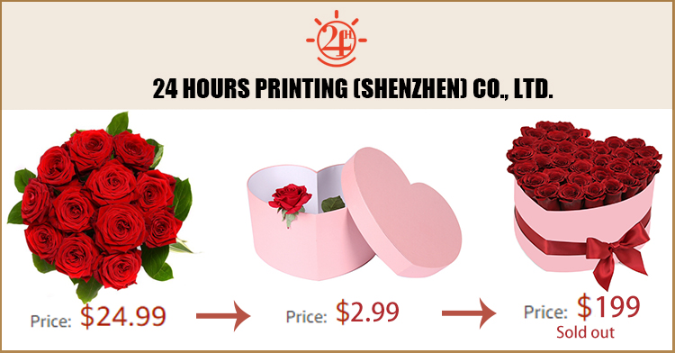 Wholesale handmade large red velvet covered heart shaped gift flower box