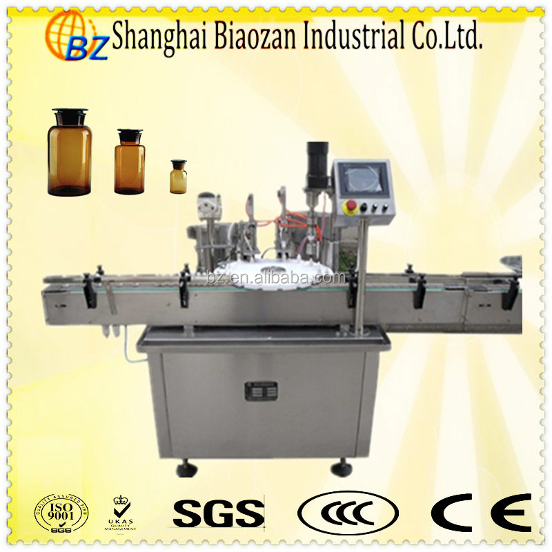 Filling capping machine/glass bottle cap capper/liquid fillers