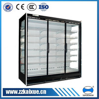 commercial remote glass door multi deck display showcase/ wall cooler