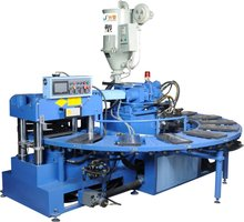 Rotary Full-automatic Plastic Shoes Injection machine eva shoe sole making machine