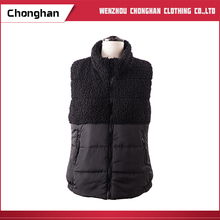Chonghan Best Selling Custom Sleeveless Black Women Cotton Waistcoat