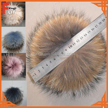 Top Quality Racoon fur pom pom ball