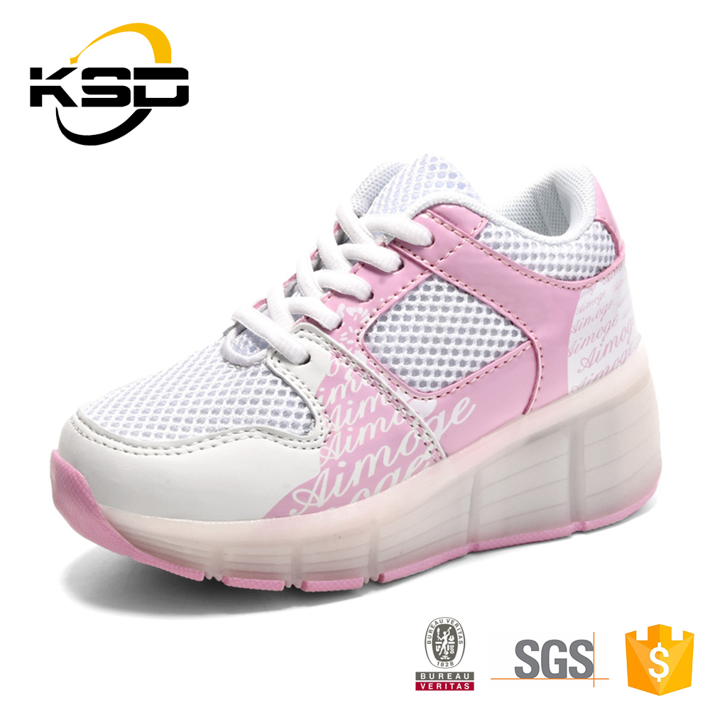 Ice Breathable Kids Roller Shoes Damping Comfortable Bounce LED Shoes For Kids