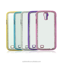 High quality leather western diamond sublimation smartphone case for Samsung S4