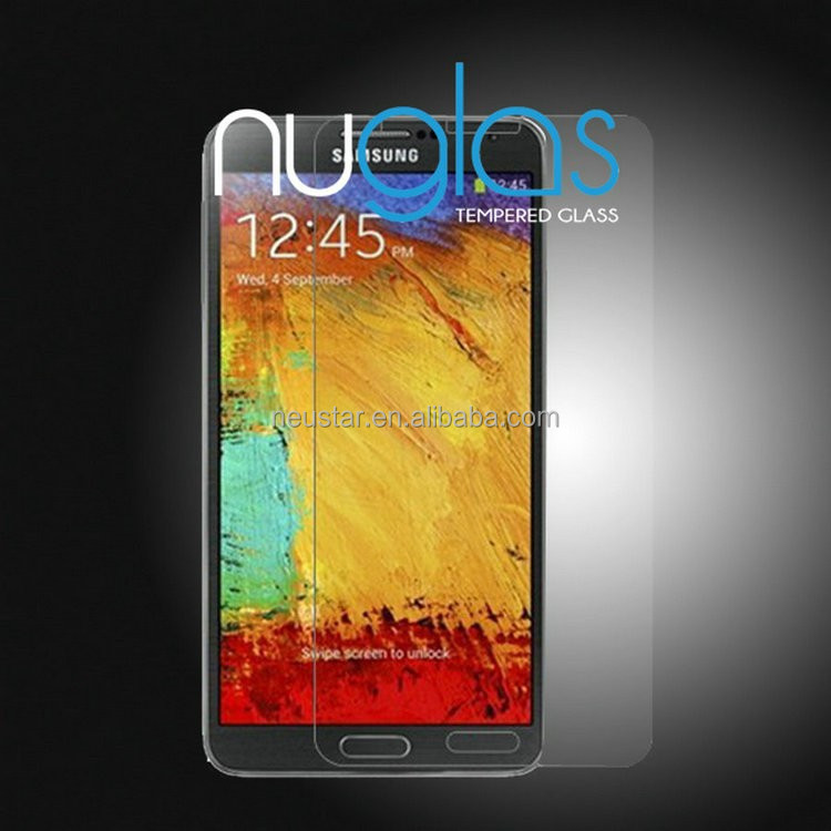Mobile Phone Tempered glass screen protector for Sam note3