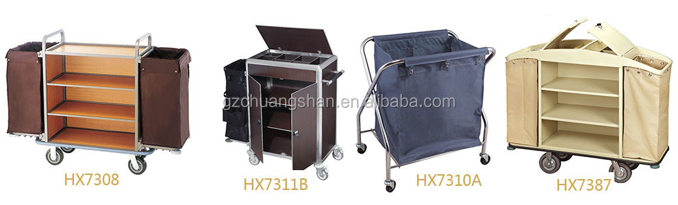 Stainless steel Hotel linen trolley/Laundry cart