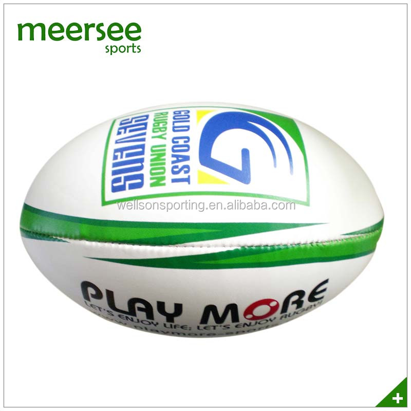 Full size hand sewn rugby ball
