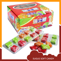 Sugus swiss fruits toffee candy names