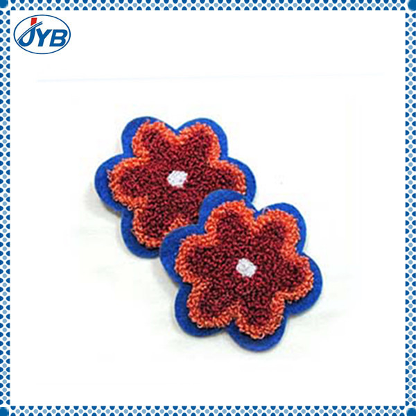 Bullion wire hand embroidery flower design patch and badge products