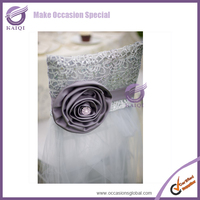 k4393 purple organza fancy wedding chair covers