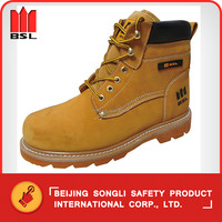 SLS-Y13N6 Fashion Yellow Nubuck Leather Safety Shoes