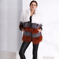 lady'S Fashion Knitted raccoon fur coat /wholesale and Retail