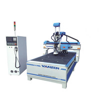 Chinese supplier shenyang 2030 ATC 4 axis cnc router , cnc wood router engraving machine for door , cabinet , cylinder