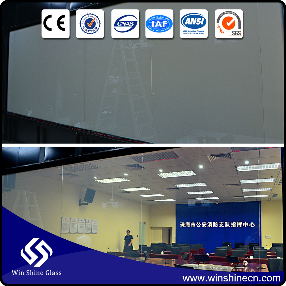 Pdlc and switchable smart film for glass