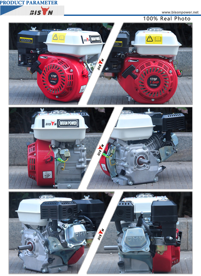 BISON(CHINA) BS170F OHV Air Cooled 7.5hp Gasoline Engine 170F