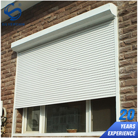 Security Aluminum Roller Shutters Watertightness Electric Operation Roll Up Shutter