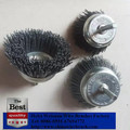 High quality Cup type Grinder Abrasive Nylon Brush Wheels with shaft 6mm