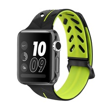 For Apple Watch Silicone Watch Band,Personality Double Color Rubber Strap For Apple Watch Band Series 3