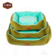 Green luxury memory foam pet dog sofa bed