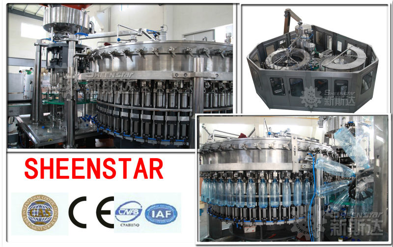 2013 glass bottle soft drinks filling line