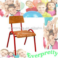 Wooden kids chairs with dimensions,kindergarten furniture chair with bright color