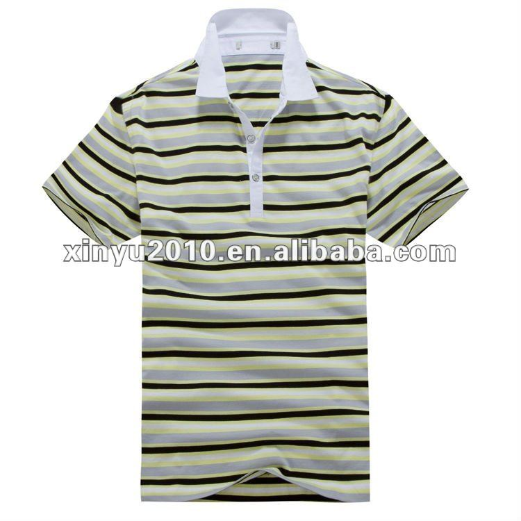 Factory wholesale stripe polo shirt in the philippines