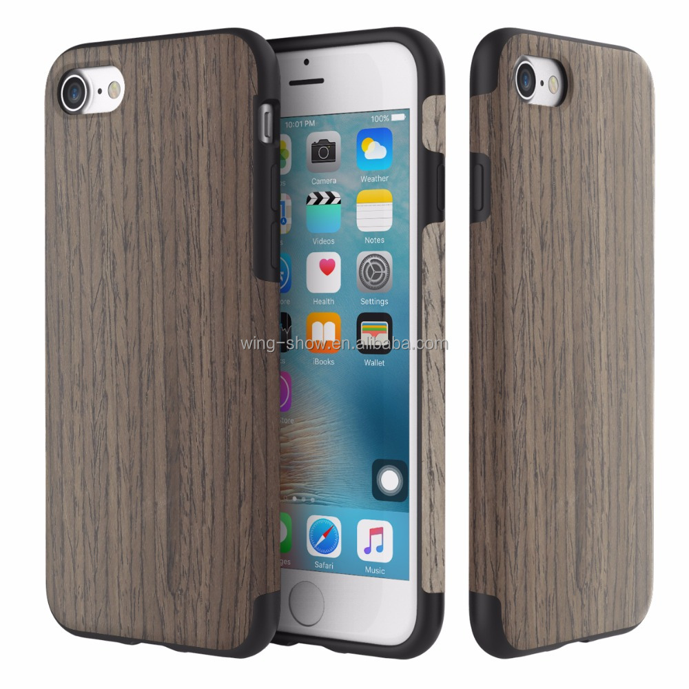 Rocky wood grain 0.3mm wooden moblie phone cases for iphone 7 ,mobile phone accessories