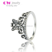 925 Sterling Silver Antique Ring Butterfly Ring Jewelry Ring