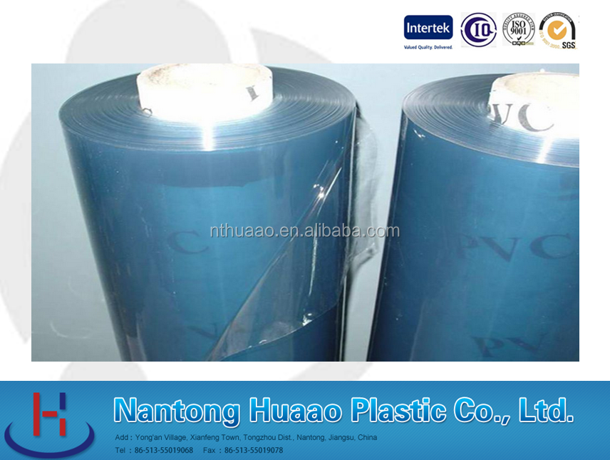 blue plastic flim with high quality