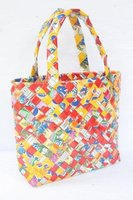Woven Shopping Bag Wide Folding