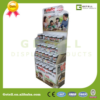 nutella header card ,display stocks cardboard paper display stand tray,