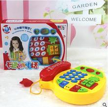 New Toy Phone for Children Musical Cartoon Flower Shape Toy Phone English Learning Machine Music Development Gift Baby Kids Toys