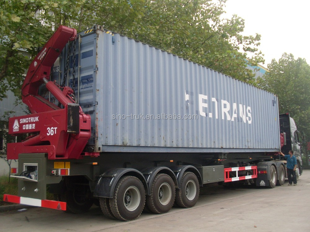 "Made in China 36T 40"" container side lifter semi trailer"