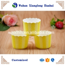 Popularly style food grade cupcake square paper baking cups ,Disposable Baking Paper cups