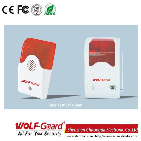 Professioneller Alarmsystemanbieter Wireless Alarm System mit Flash-Sirene (YL-007AS)