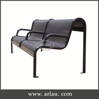 Arlau All Weather Furniture,Modern Park Bench,Tubular Bench