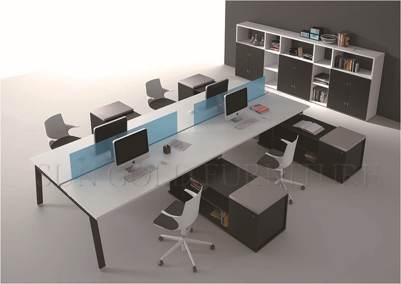 2 person partition modern two people workstation sz ws116 for 8 6 mobiliario de oficina